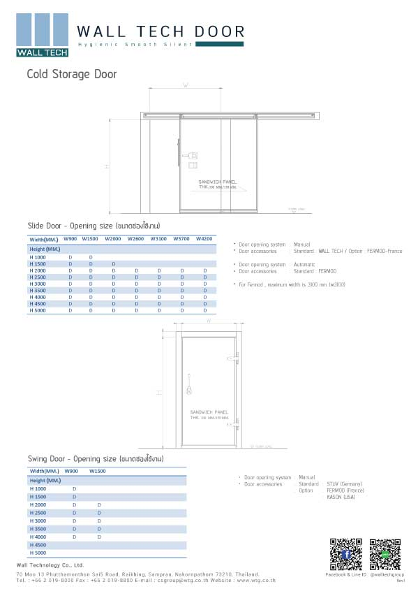 E-Brochure Wall Tech Door - Cold Storage